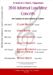 2016 Informal Lunchtime Concerts