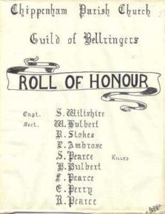 Sidney Wiltshire, William Hulbert, R. Stokes, Leonard Ambrose, S. Pearce, Herbert Hulbert, Frederick Pearce, Edward Perry, Raymond Pearce.